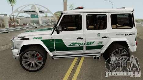 Mercedes-Benz G700 Brabus Widestar Dubai Police для GTA San Andreas