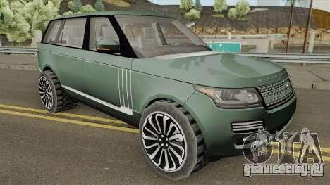 Range Rover SV Autobiography для GTA San Andreas