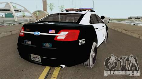 Ford Taurus Police Interceptor LAPD 2015 для GTA San Andreas