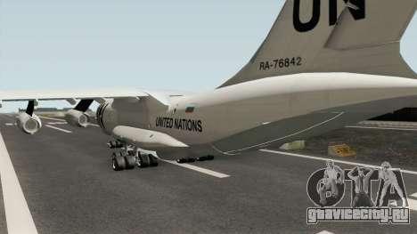 Ilyushin Il-76TD United Nations для GTA San Andreas