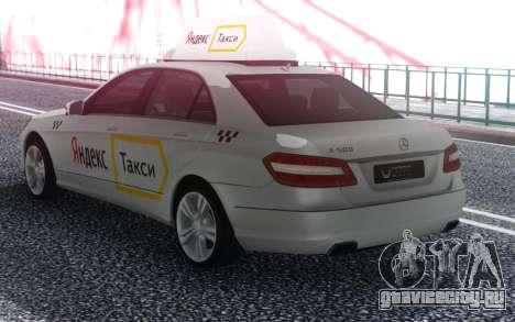 Mercedes-Benz E-Class Яндекс Такси для GTA San Andreas