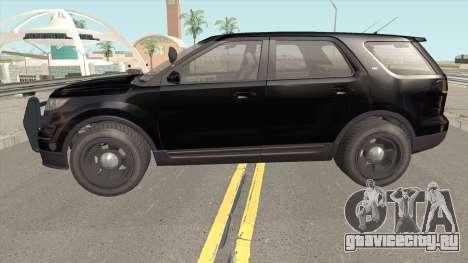 Vapid Police Cruiser Unmarked GTA V для GTA San Andreas