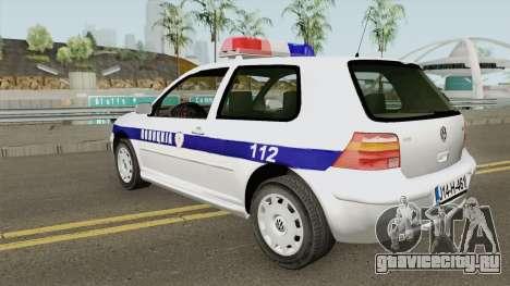 Volkswagen Golf IV Policija Republike Srpske для GTA San Andreas
