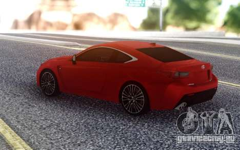Lexus RC F для GTA San Andreas