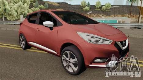 Nissan Micra 2019 для GTA San Andreas