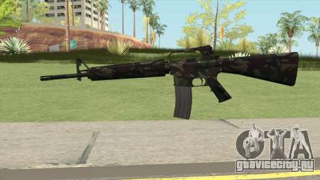 M16A2 Full Forest Camo (Ext Mag) для GTA San Andreas