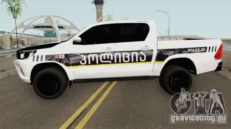 Toyota Hilux Georgia Police для GTA San Andreas
