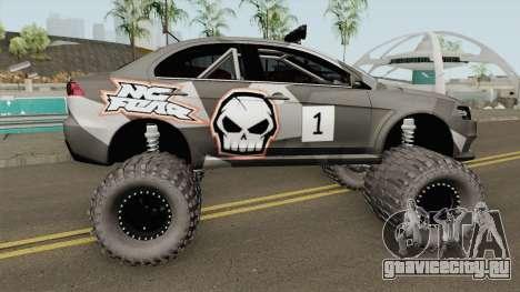 Mitsubishi Evolution X Off Road No Fear для GTA San Andreas