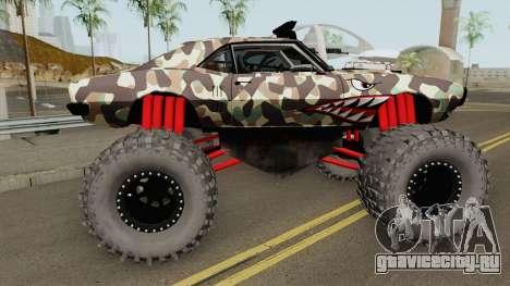 Pontiac Firebird Monster Truck Camo Shark 1968 для GTA San Andreas