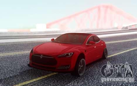 Tesla Model S Stance для GTA San Andreas