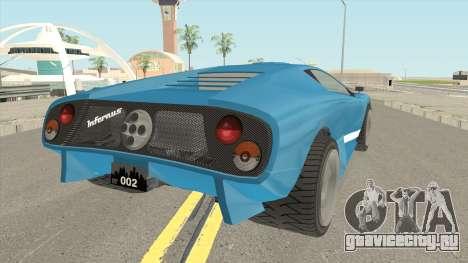 Infernus GTA IV для GTA San Andreas