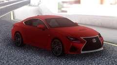 Lexus RC F Red для GTA San Andreas