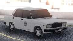 ВАЗ 2107 Белое Такси для GTA San Andreas