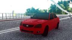 ВАЗ 2170 Красный Седан для GTA San Andreas