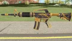 CS:GO M4A1 (Snakebite Gold Skin) для GTA San Andreas