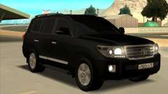 Toyota Land Cruiser 200 2013 Black для GTA San Andreas