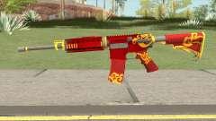 Rules Of Survival AR15 Wild Dragon для GTA San Andreas