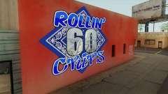 Rollin 60 Crips Mural для GTA San Andreas