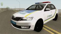 Skoda Rapid (Police Of Ukraine) для GTA San Andreas