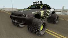 Nissan Skyline R32 Off Road Monster Energy для GTA San Andreas