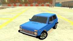 ВАЗ 2121 Синий 4x4 для GTA 4