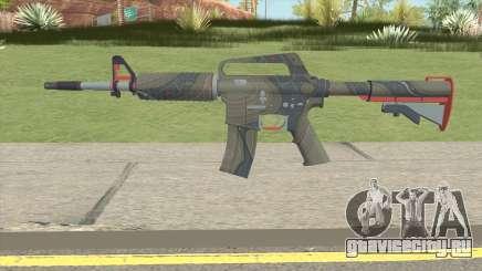 CS:GO M4A1 (Brifing Skin) для GTA San Andreas