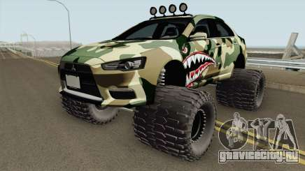 Mitsubishi Evolution X Off Road Camo Shark для GTA San Andreas