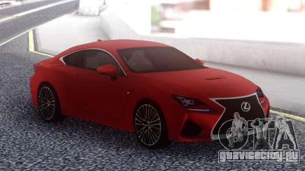 Lexus RC F Red для GTA San Andreas