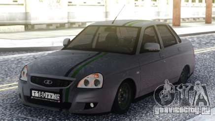 Lada Priora Grey Sedan для GTA San Andreas