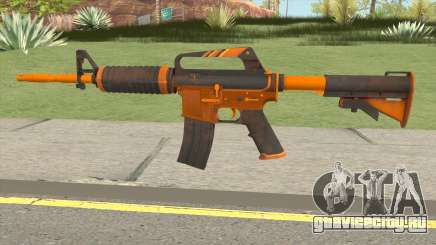 CS:GO M4A1 (Alloy Orange Skin) для GTA San Andreas