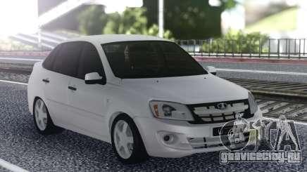 Lada Granta White Stock для GTA San Andreas