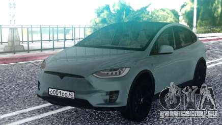 Tesla Model X Grey для GTA San Andreas
