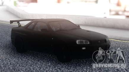 Nissan Skyline R34 GT-R Black для GTA San Andreas