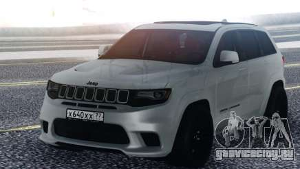 Jeep White Grand Cherokee для GTA San Andreas