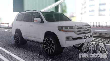 Toyota Land Cruiser 200 Offroad White для GTA San Andreas