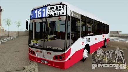 Todobus Pompeya II Agrale MT15 Linea 161 Interno для GTA San Andreas
