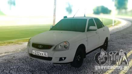Lada Priora White Sedan для GTA San Andreas