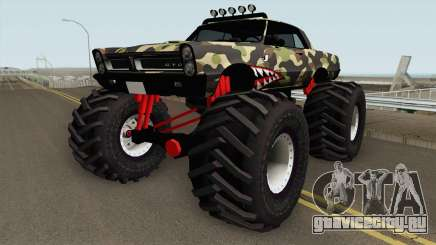 Pontiac GTO Monster Truck Camo Shark 1965 для GTA San Andreas