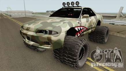 Nissan Skyline R32 Off Road Camo Shark для GTA San Andreas