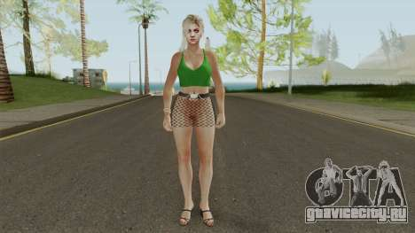 Jill Valentine Casual V2 для GTA San Andreas