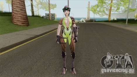 Widowmaker Green Battle Suit для GTA San Andreas