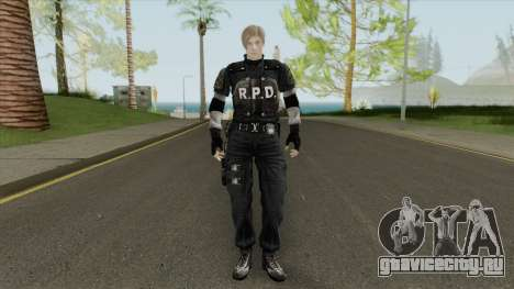 Leon RE 2 Remake (Classic Outfit) Meshmod для GTA San Andreas
