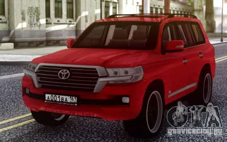 Toyota Land Cruiser 200 B7 для GTA San Andreas
