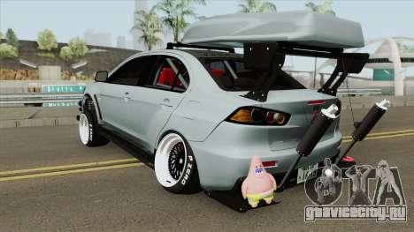 Mitsubishi Lancer Evolution X Hellaflush 2015 для GTA San Andreas