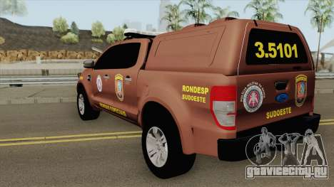 Ford Ranger 2017 Rondesp Sudoeste для GTA San Andreas
