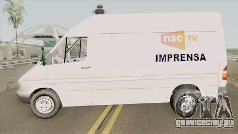 Mercedes-Benz Sprinter NSC TV для GTA San Andreas