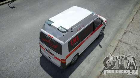 Volkswagen Transporter T5 Amblance для GTA 4
