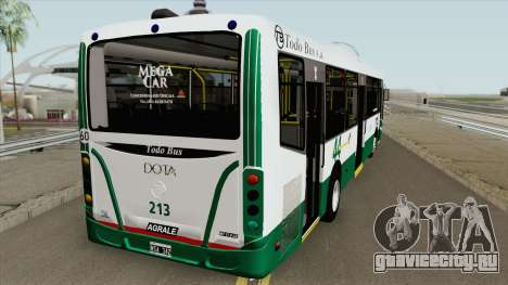Linea 44 Todobus Pompeya II Agrale MT17 Interno для GTA San Andreas