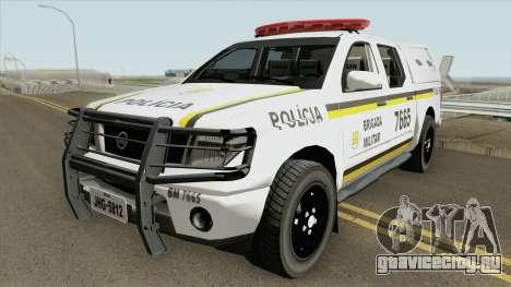 Nissan Frontier Brazilian Police (Clean) для GTA San Andreas