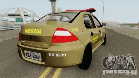 Chevrolet Prisma Brazilian Police для GTA San Andreas